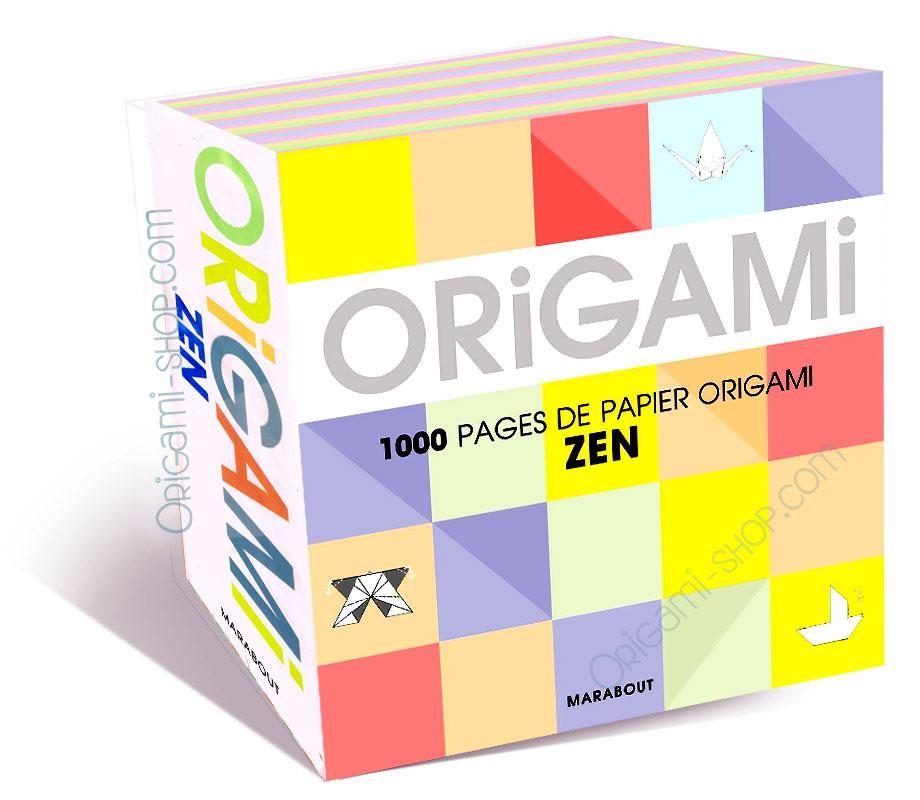 bloc 1000 origamis papiers ZEN - photo#41