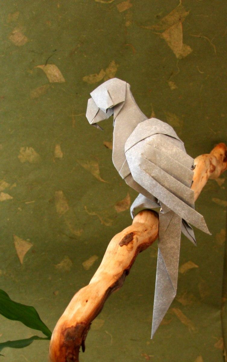 Mini Origami Parrot Bracelet Pendant   1200x753