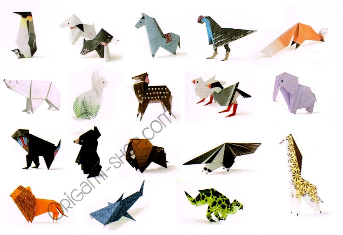 animal origami avec 40 papiers origami illustr233s inclus