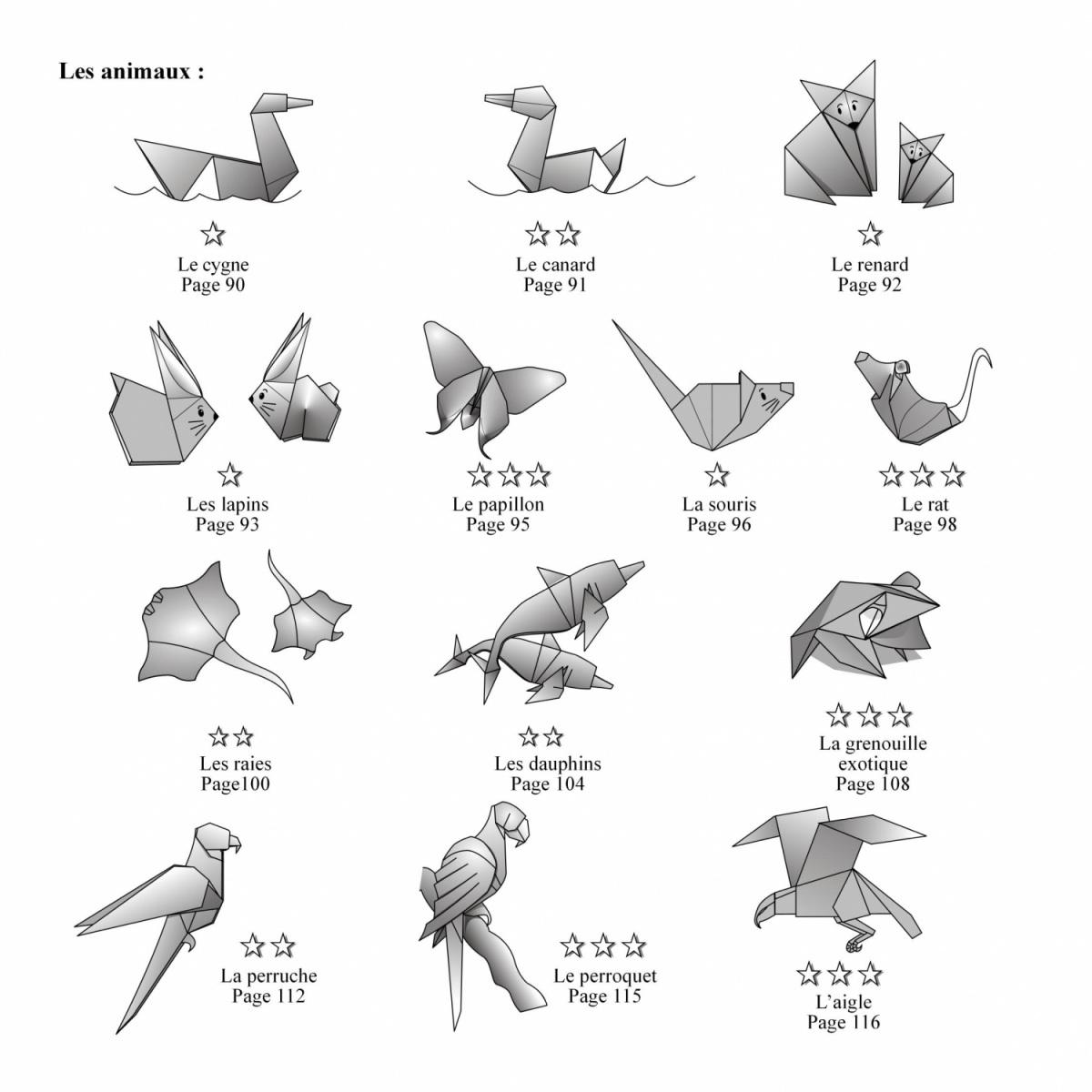 Livre origami d couvrez l 39 origami nicolas terry - Origami animaux facile gratuit ...