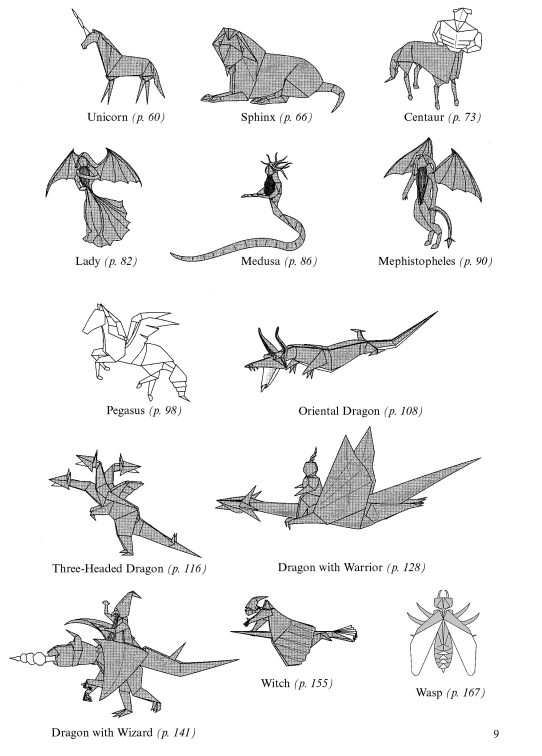 book dragons  witches  and other fantasy creatures in origami voyer