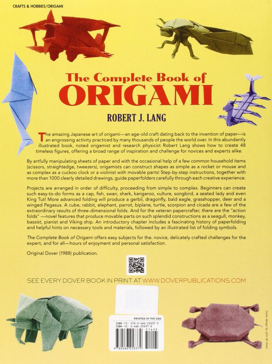 the complete book of origami stepbystep instructions in