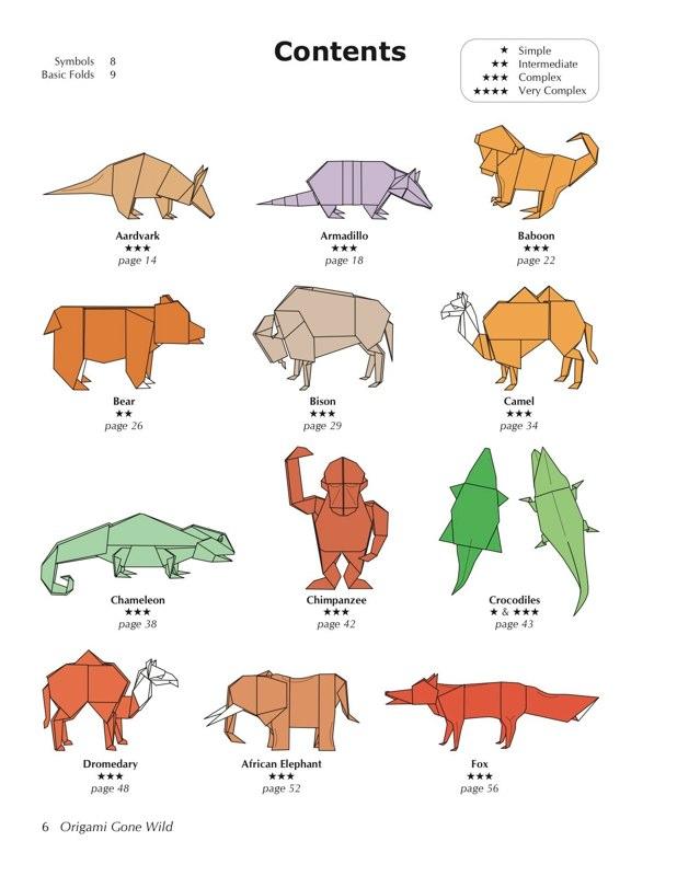 origami jungle animals 28 images jungle animals