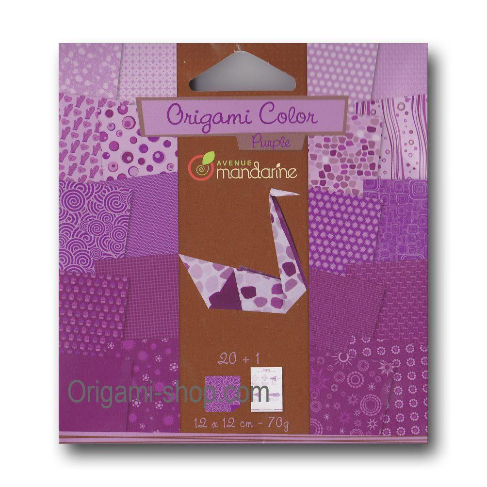 Pack Papiers Origami Avenue Mandarine - photo#32