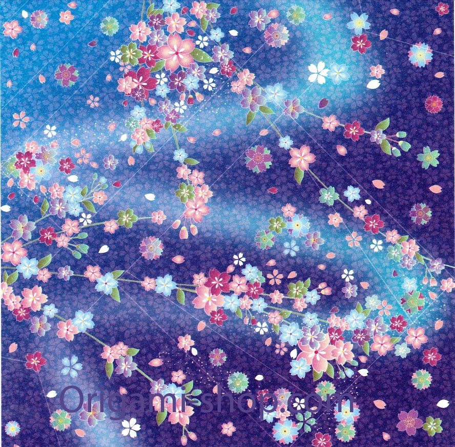 washi chiyogami kimono yuzen 15x15cm 12 feuilles 4 motifs. Black Bedroom Furniture Sets. Home Design Ideas