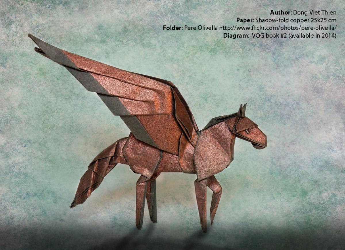 iridescent origami paper shadowfold copper