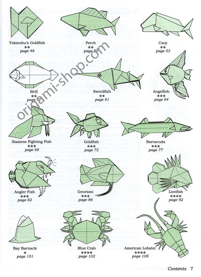 livre origami under the sea lang montroll