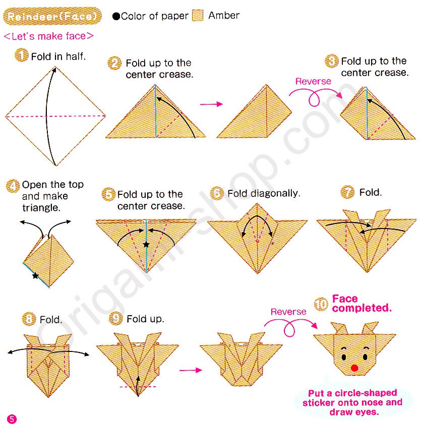 Origami noel instructions pliage design de maison - Pliage origami simple ...