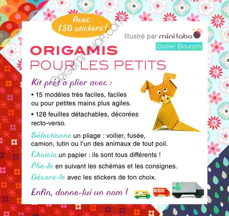 origamis pour les petits d s 6 ans 128 feuilles d cor es 150 stickers. Black Bedroom Furniture Sets. Home Design Ideas
