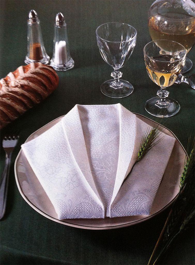 Origami book folding napkins easy - Pliage de serviette accordeon ...
