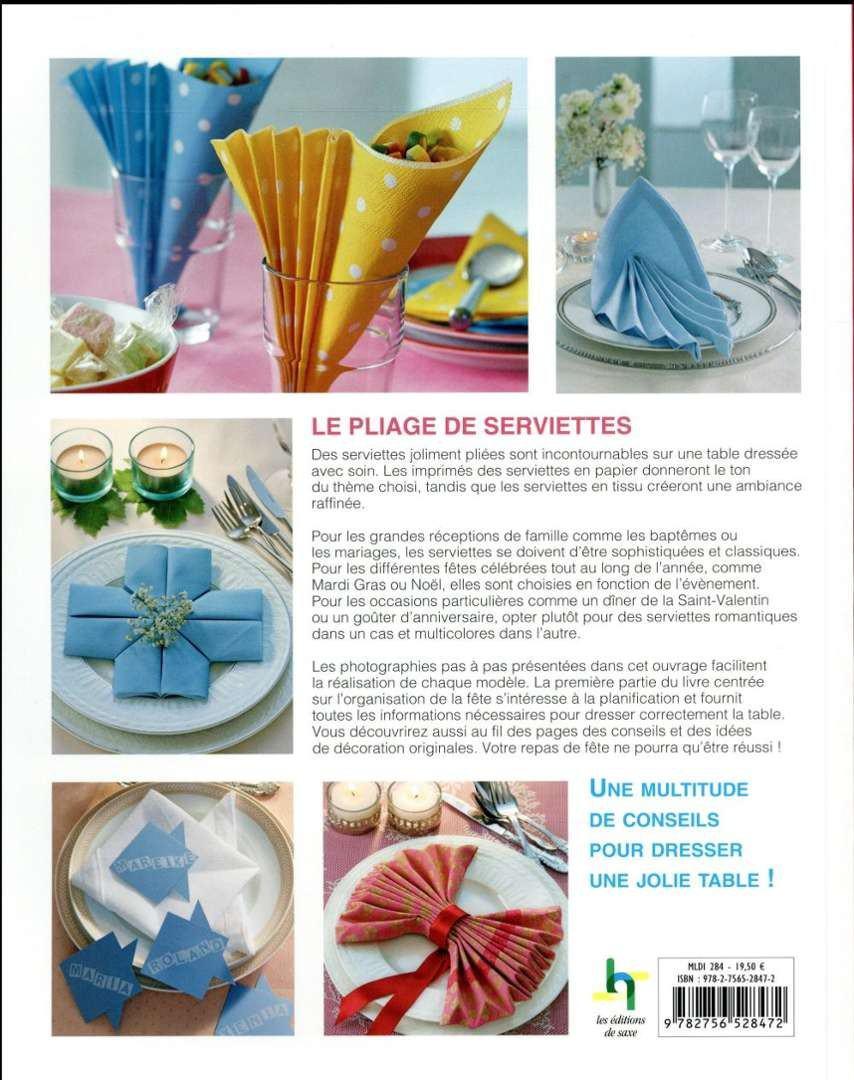 Origami livre pliages de serviettes - Pliages de serviettes de table en papier ...