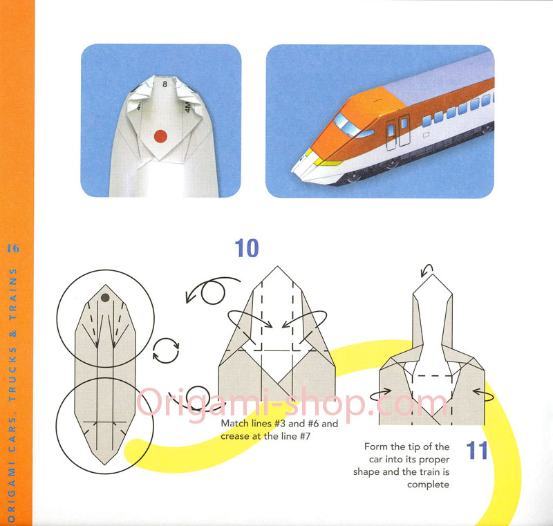 how to make an origami train engine