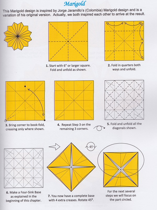 Hard single sheet origami