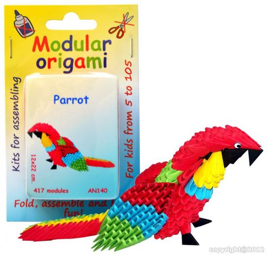 Surprise pack with 10 kits 3d origami golden venture folding