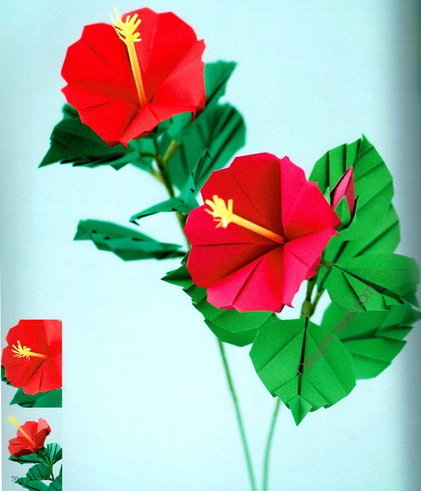 origami hibiscus flower instructions