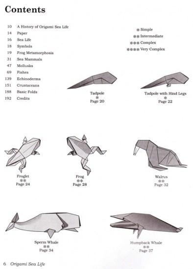 Book Origami Sea Life Montroll