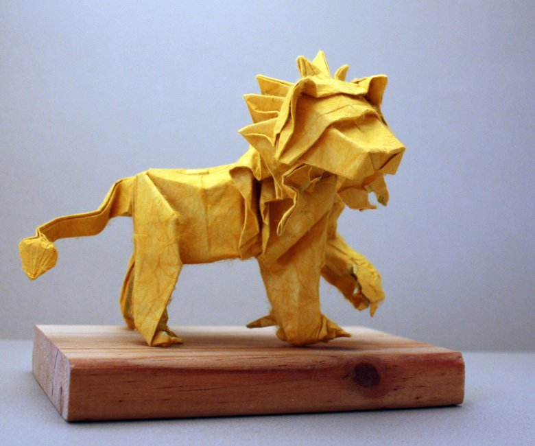 Lion Origami Royalty Free Cliparts, Vectors, And Stock ... | 650x780