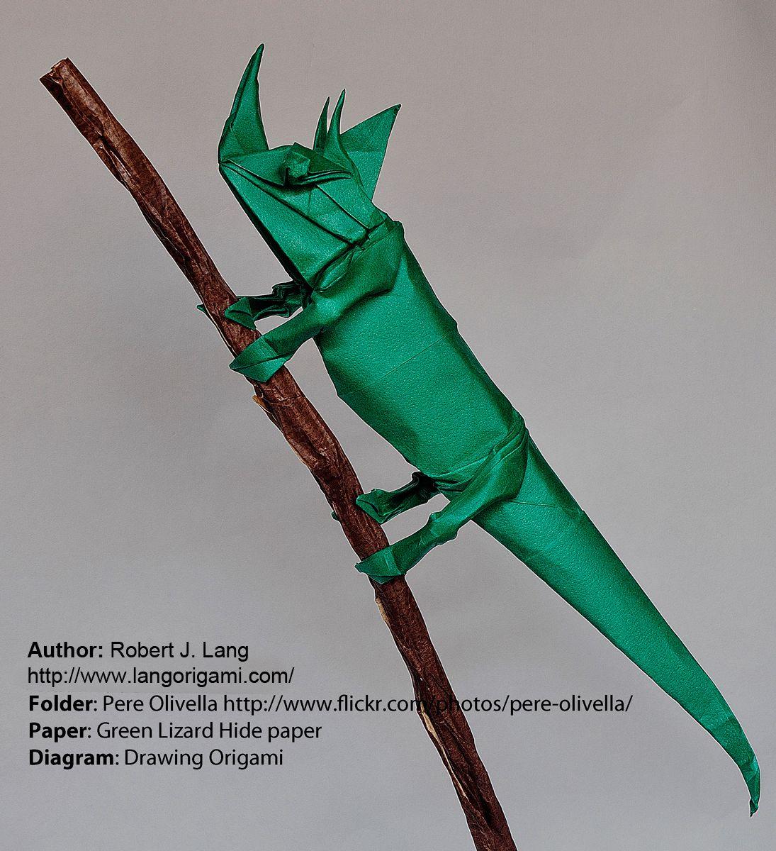 Origami Lizard Tutorial (Brian Chan) Part 1/2 - Precreasing - YouTube | 1200x1095
