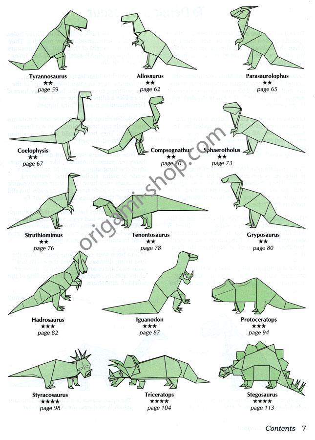 Origami Facile Dinosaure