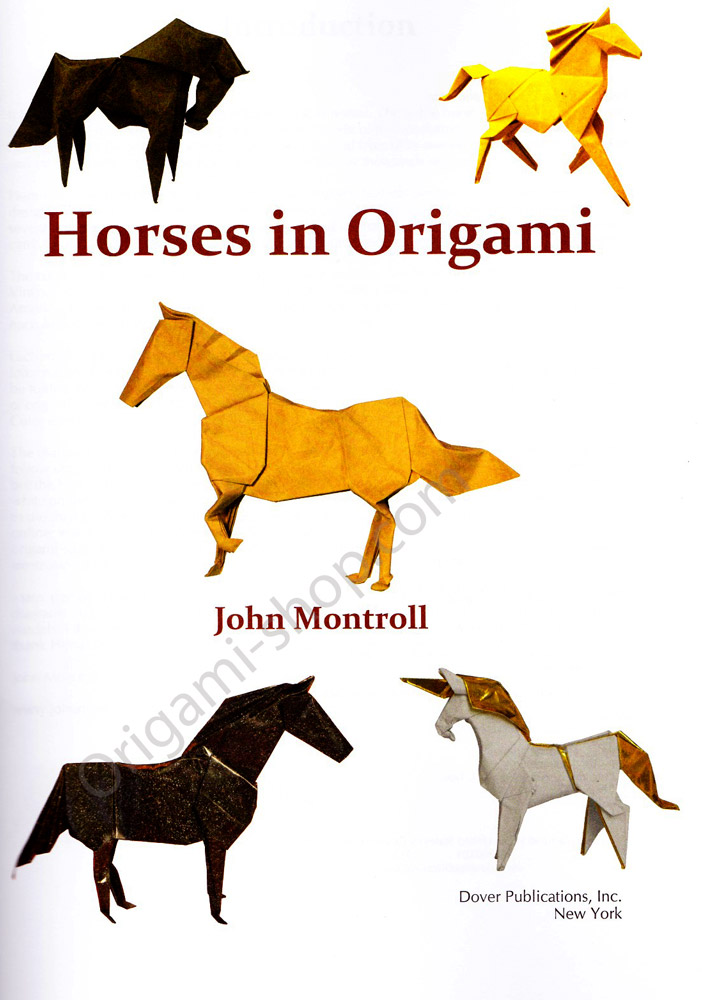 Horse In Origami By John Montroll