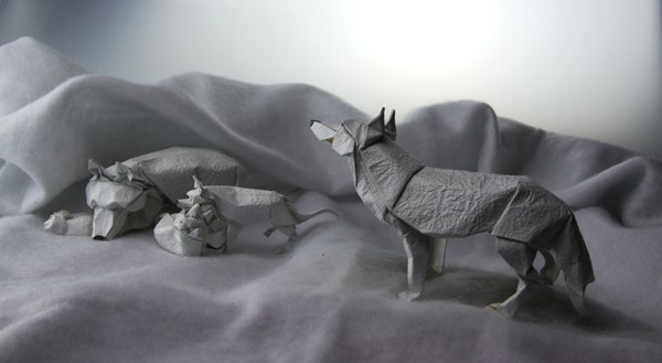 How to make An Origami Wolf || Easy papr Wolf Paper Factor ... | 329x600