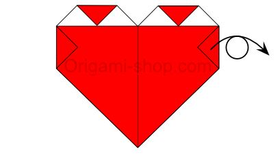 Easy Origami Heart - Folding Intructions