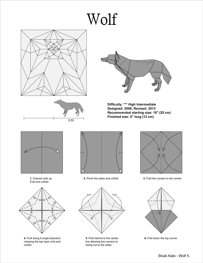 Step by step instructions how to make origami Vector Image | 1035x800