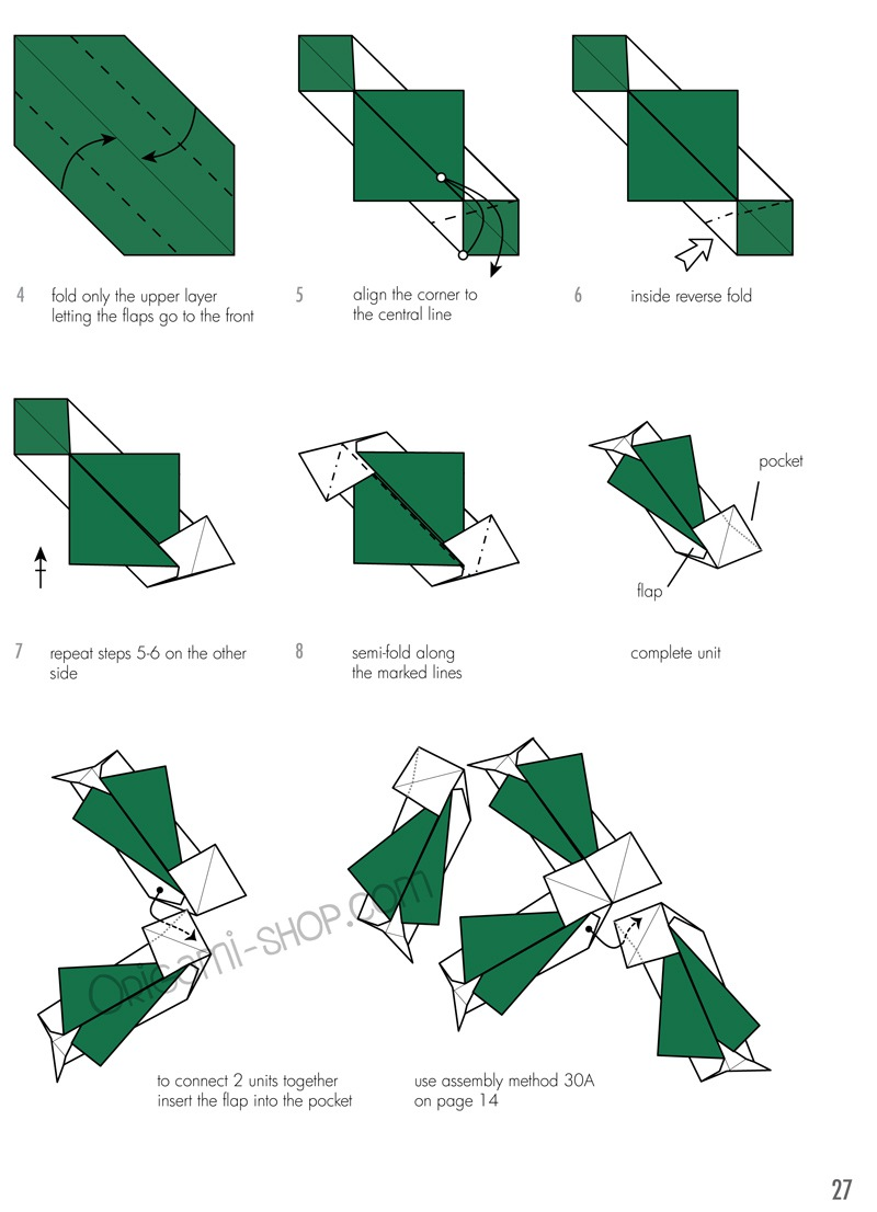 Modern kusudama origami pooptronica