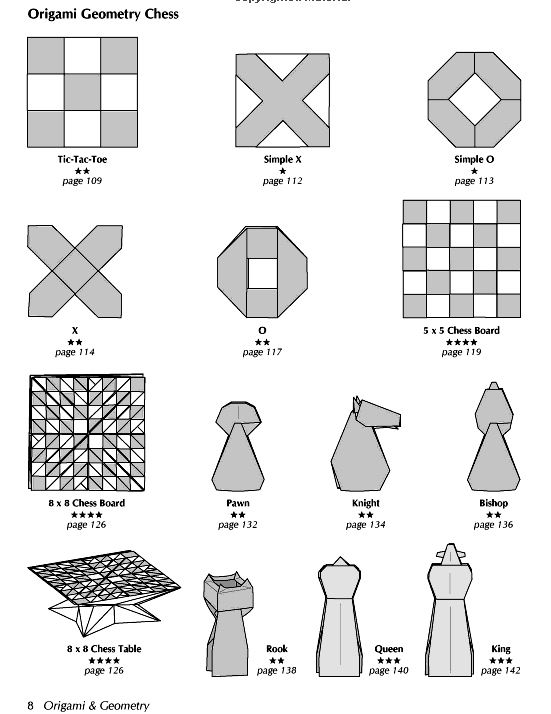 Origami Chess Set Cats Vs Dogs Instructions