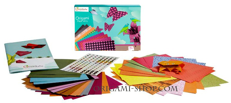 kit origami une histoire de papier nicolas terry. Black Bedroom Furniture Sets. Home Design Ideas