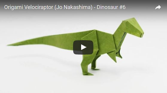 Origami Velociraptor by Jo Nakashima - Dinosaur #6 - photo#20