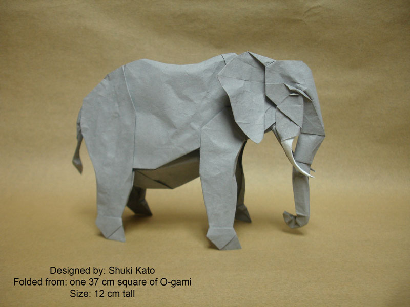 Origami Elephants - Page 1 of 5 | Gilad's Origami Page | 600x800