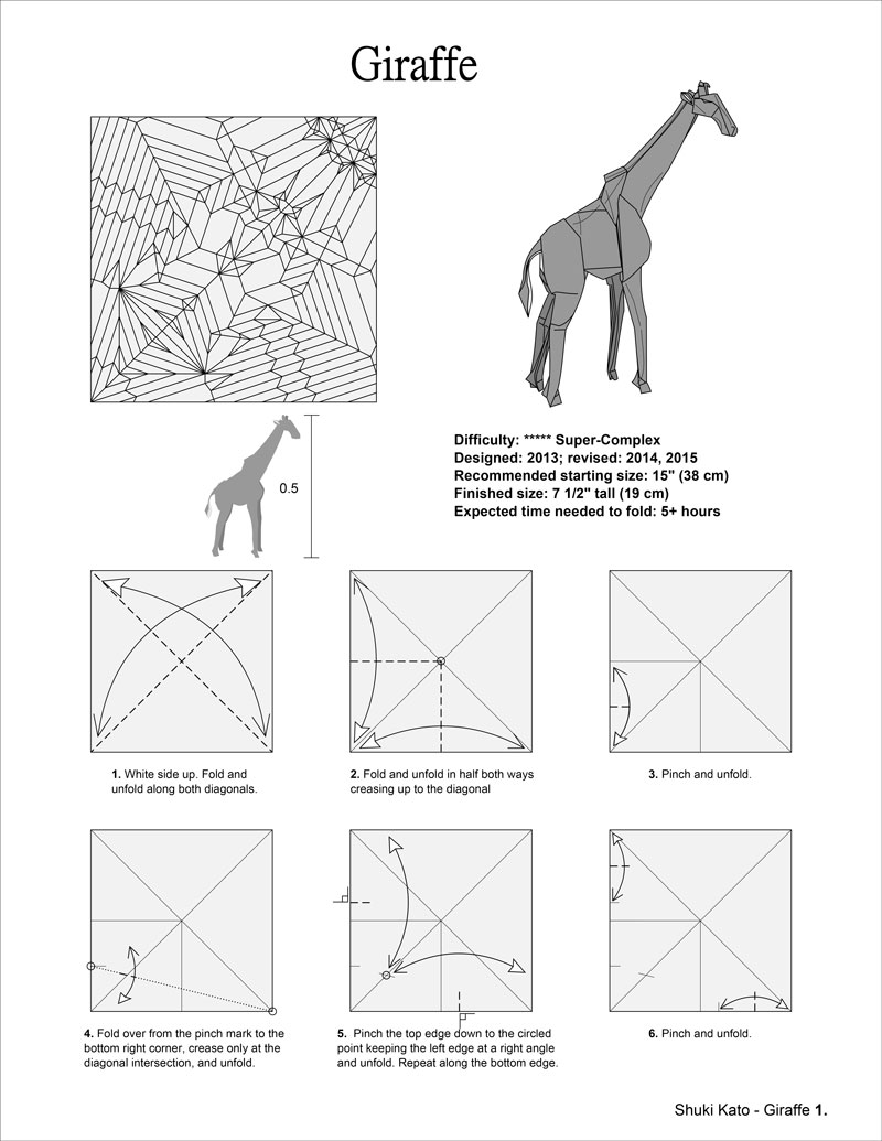 Projet Origami 1 Elephant De Shuki Kato Papier Elephan 32