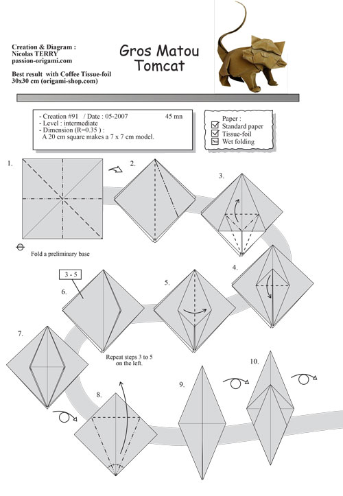Step By Step Instructions How To Make Origami An Elephant. Royalty ... | 723x500