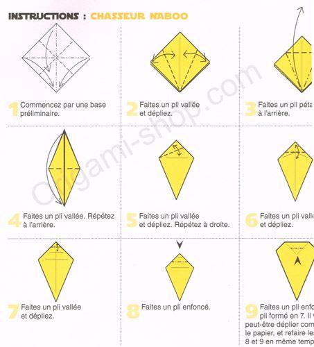 origami facile vaisseau