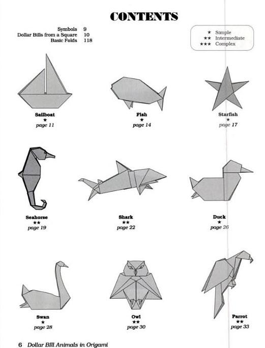dollar bill animals in origami rh origami shop com 3d origami parrot diagram origami parrot instructions