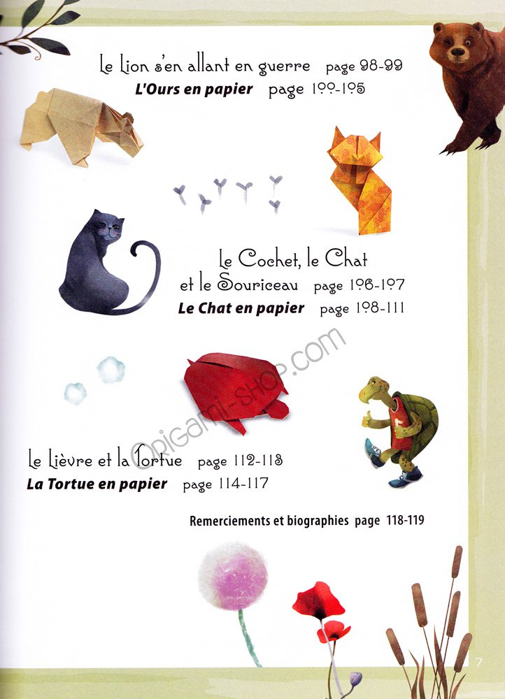Fables la fontaine book origami