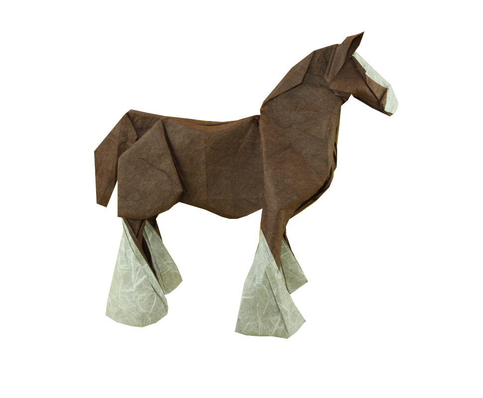 Horse create and fold By Quentin Trollip http://www.liveorigami.com/