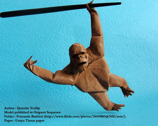 Quentin Trollip's Orang Outang fold by Fernando Barbieri http://www.flickr.com/photos/24419883@N05/sets