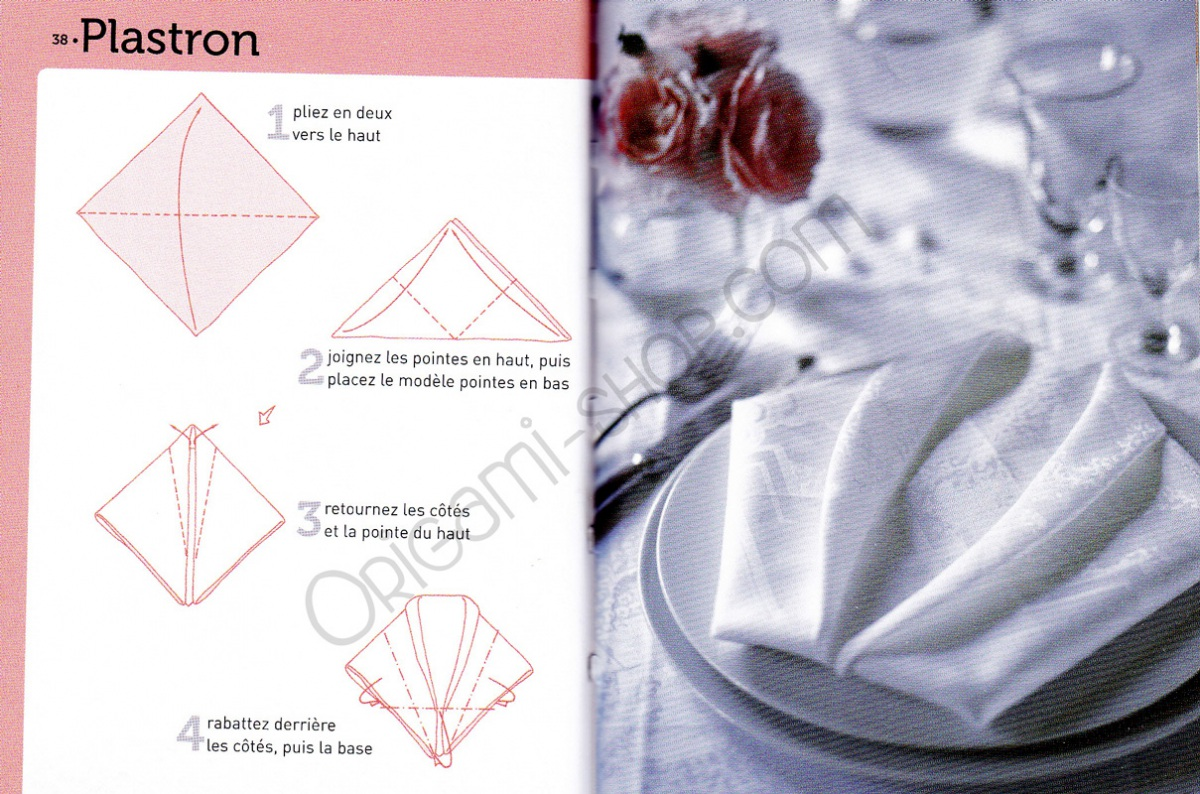 Pliage Serviette Facile Range Couverts https://www.origami-shop/en/napkin-folding-xml